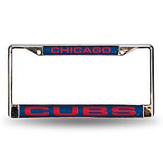 MLB Blue Laser-Cut Frame - Cubs