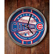 MLB Chrome Clock - Chicago Cubs