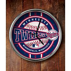 MLB Chrome Clock - Minnesota Twins