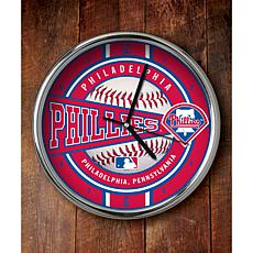 MLB Chrome Clock - Philadelphia Phillies