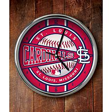 MLB Chrome Clock - St. Louis Cardinals