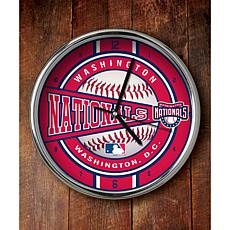 MLB Chrome Clock - Washington Nationals