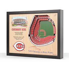 MLB Cincinnati Reds StadiumViews 3D Wall Art- Great American Ball Park