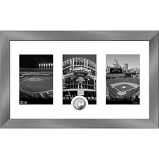 MLB Cleveland Indians Art Deco Silver-Plated Coin Photo Mint
