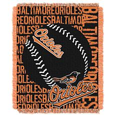 MLB Double Play Woven Throw - Baltimore Orioles