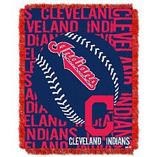 MLB Double Play Woven Throw - Cleveland Indians