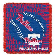 MLB Double Play Woven Throw - Philadelphia Phillies