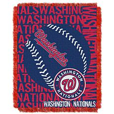 MLB Double Play Woven Throw - Washington Nationals
