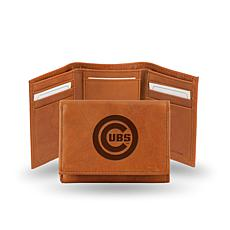 MLB Embossed Trifold Wallet - Cubs