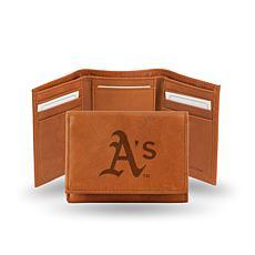 MLB  Embossed Trifold Wallet - Oakland Athletics