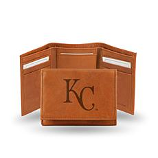 MLB Embossed Trifold Wallet - Royals
