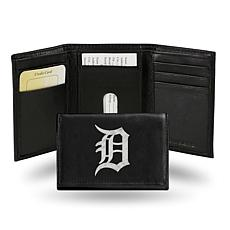 MLB Embroidered Leather Trifold - Tigers