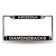 MLB Laser-Cut Chrome License Plate Frame - Diamondbacks