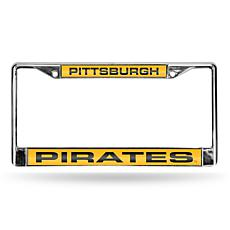 MLB Laser-Cut Chrome License Plate Frame - Pirates