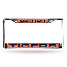 MLB Laser-Cut Chrome License Plate Frame - Tigers