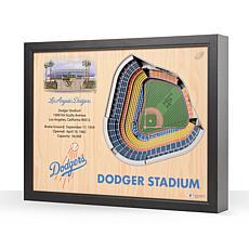 MLB Los Angeles Dodgers StadiumViews 3-D Wall Art - Dodger Stadium