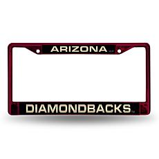 MLB Maroon Laser-Cut Chrome License Plate Frame - Diamondbacks