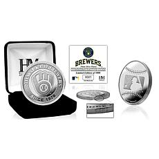 MLB Milwaukee Brewers Silver-Plated Coin