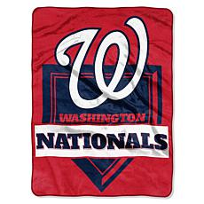 MLB Nationals Home Plate Raschel Throw Blanket