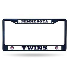MLB Navy Chrome License Plate Frame - Twins