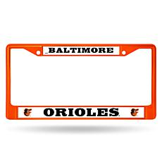 MLB Orange Chrome License Plate Frame - Orioles