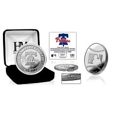 MLB Philadelphia Phillies Mets Silver-Plated Coin