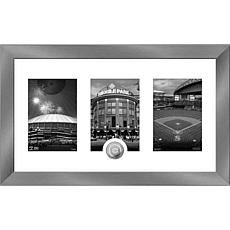 MLB Seattle Mariners Giants Art Deco Silver-Plated Coin Photo Mint