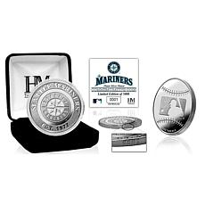 MLB Seattle Mariners Silver-Plated Coin