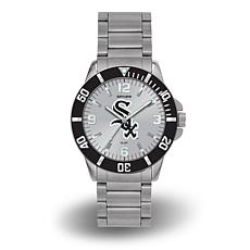 "MLB Sparo ""Key"" Team Logo Stainless Steel Bracelet Watch - White Sox"