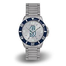 "MLB Sparo ""Key"" Team Logo Stainless Steel Bracelet Watch - Mariners"