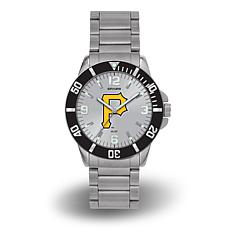 "MLB Sparo ""Key"" Team Logo Stainless Steel Watch - Pittsburgh Pirates"