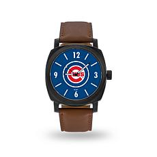 "MLB Sparo ""Knight"" Faux Leather Watch - Cubs"