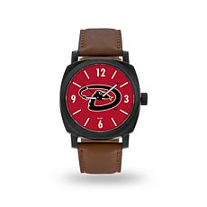 "MLB Sparo ""Knight"" Faux Leather Watch - Diamondbacks"