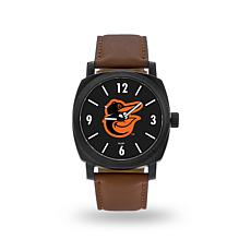 "MLB Sparo ""Knight"" Faux Leather Watch - Orioles"