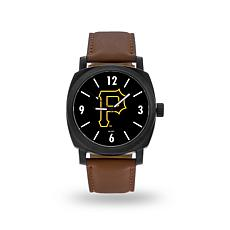 "MLB Sparo ""Knight"" Faux Leather Watch - Pirates"