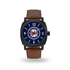 "MLB Sparo ""Knight"" Faux Leather Watch - Twins"