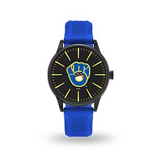 "MLB Sparo Team Logo ""Cheer"" Strap Watch - Brewers"