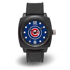 "MLB Sparo Team Logo ""Prompt"" Black Strap Sports Watch - Cubs"
