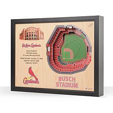 MLB St. Louis Cardinals StadiumViews 3-D Wall Art - Busch Stadium