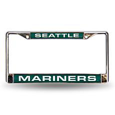 MLB Teal Laser-Cut Chrome License Plate Frame - Mariners