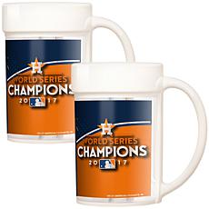 MLB World Series 2017 15 oz. Ceramic Mug Set - Astros