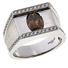 Modani Jewels Men's 18K White Gold Contemporary Brown Diamond Ring