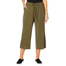 ModernSoul® Bamboo Jersey Cropped Lounge Pant with Pockets