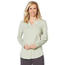 ModernSoul® Long-Sleeve Basic Top with Thumbhole Cuffs