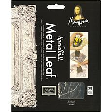 Mona Lisa Metal Leaf Sheets 5.5X5.5 25/Pkg - Silver