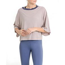 Mono B Mid Sleeve Ringer Bamboo Short Shirt