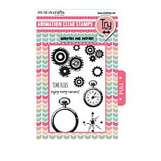 Motion Crafts Animation Clear Stamp Set - Time Flies