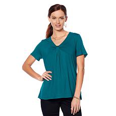 Motto Knot-Front Short-Sleeve Top