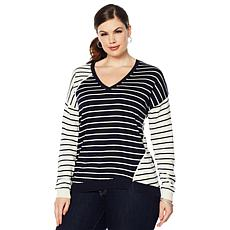 Motto Mixed Stripe Sweater