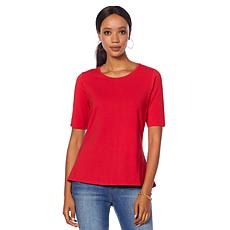 Motto Modern Knit Scoop Neck Tee - Bright Colors